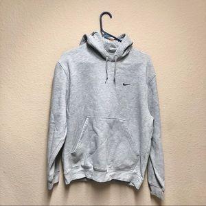 [Nike] Gray Hooded Swoosh Sweatshirt-M